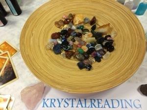 Krystal reading. Mariakaisa på Odsherred Helsemesse