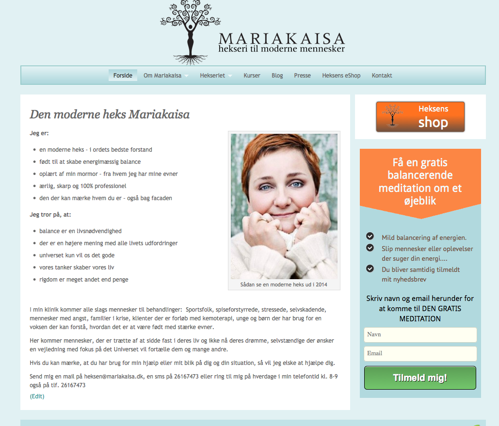 Hjemmesiden har fået nyt design - Mariakaisa.dk