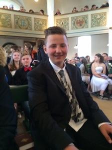 Påsken startede med konfirmation af denne smukke unge mand